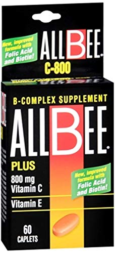 Allbee B Complex Supplement With Vitamin E And Vitamin C-800 Mg Caplets 60 Ea Review