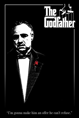 The Godfather-Marlon Brando-Red Rose, Movie Poster Print, 24