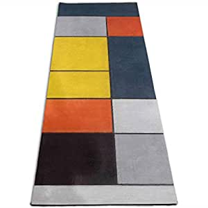 Amazon.com: Unisex Fitness Yoga Mat Mondrian Blocks Unique ...