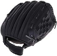 Baoblaze Left Hand Pitchers Pro Preferred 12.5/11.5/10.5 inch Baseball Glove Black Pink for Softball Teeball P