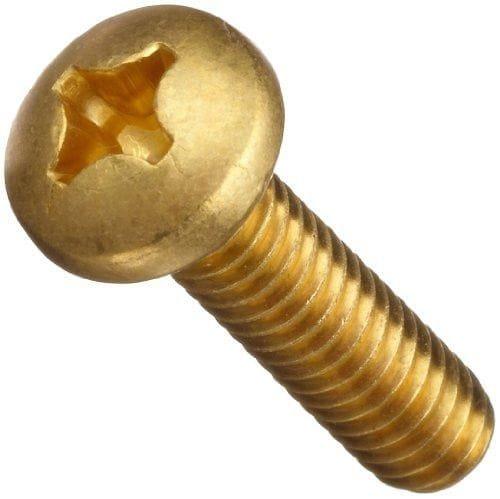 Quantity: 100 pcs Pan Head Phillips Drive #10-24 x 1 1//2 Machine Screws Brass Plain Finish Full Thread