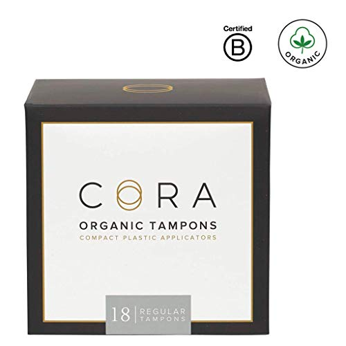 Cora Organic Cotton Tampons with Compact Applicator - Regular (18 Count)