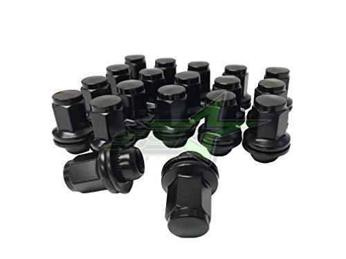 SET Group USA Toyota Black OEM Factory Mag Lug Nuts 14x1.5 Tundra Sequoia Land Cruiser
