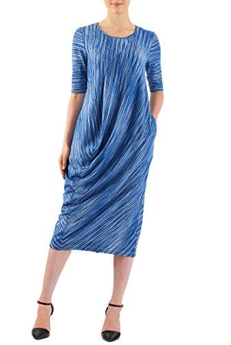 Drape Front Jersey Dresses - 8