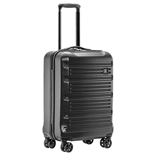 REVO Arro Hardside Luggage with Spinner Wheels, Made In USA, Carry-On 20 Inch, Black