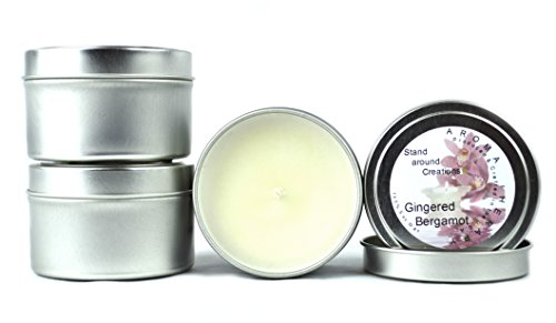 Premium 100% All Natural Soy Wax Aromatherapy Candle - 8 oz Tin Honeysuckle / Jasmine : Starts with a strong floral bouquet, adds hints of pear and cassis, and finishes with a sweet cotton candy note. This fragrance is infused with natural lemon, neroli, and petitgrain essential oils.