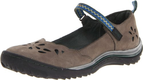 Jambu Women's Brooks Flat,Grey/Hunter Green,6.5 M US