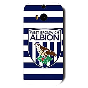 Fashion Design FC West Bromwich Albion Football Club Phone Case Cover For Htc One M8 3D Plastic Phone Case