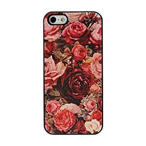 RC - Rose Pattern Pasting Skin Plastic Hard Case for iPhone 5/5S
