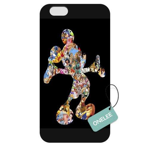Onelee(TM) - Customized Disney Mickey Mouse Apple iPhone 6 Plus 5.5 Hard Plastic case cover - Black 05