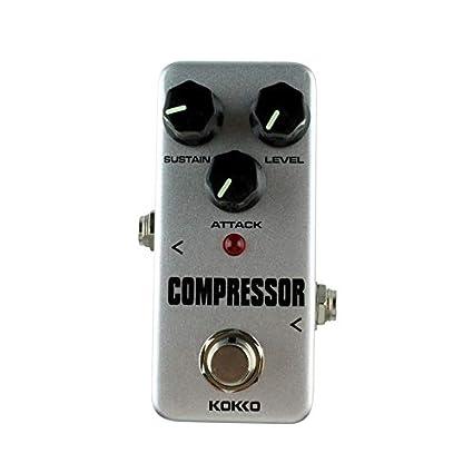 Mimagogo Aleación de aluminio Fcp2 Mini Compresor pedal de guitarra Instrumentos Musicales Efectos