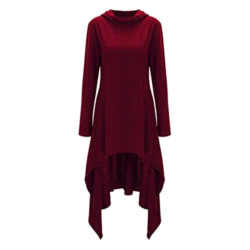 Womens Irregular Double Sleeve Sweater