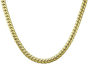 a6711a16ac ENTER THREE KEYS JEWELRY 9MM Wide 18K Gold Plated Mens Stainless Steel  Necklace Snake Chain Necklace for Men Women 20 Inches imgproduct