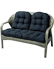 Wicker Cushions 3 Piece Set Clearance Tufted Swing Bench Cushions for 1 Loveseat and 2 Single Sofa Soft Thick Indoor Outdoor (Color : Black)