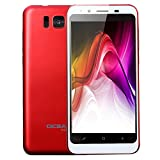 Choosebuy Unlocked Cell Phones, 4.7 inch Dual SIM Dual LED Flash HD Camera Smartphone Android 4.0 Bluetooth WiFi Dual Core 3G GPS Call Mobile Phone 256+512MB (Red)