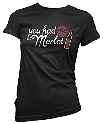 You had me at merlot shirt funny wine tshirts drinking shirt womens funny tees