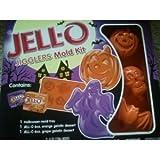 1 ~ Jello Jigglers Halloween Mold Kit Ghost/pumpkin 1 Box of Orange Grape Gelatin