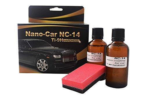 Nano Car NC-14 Car Paint Protection and Sealant Water Oil Mud Repellent Transparent Coating for Restoring, Preserving and Protecting The Cars Exterior Ti-9H Hardness Gold Label [2 Coats] 100mg