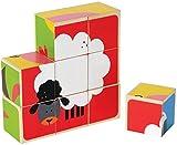 Hape-Wooden Farm Animals Block Puzzle
