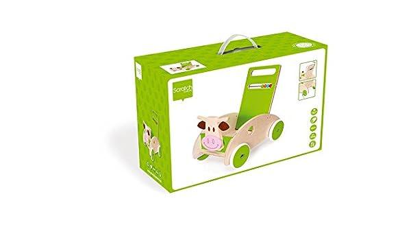Scratch - Andador de Vaca de Madera (6181417): Amazon.es: Juguetes ...