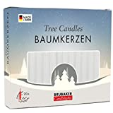 BRUBAKER Tree Candles - Pack of 20 - White - 9.5cm - Pyramids & Chimes