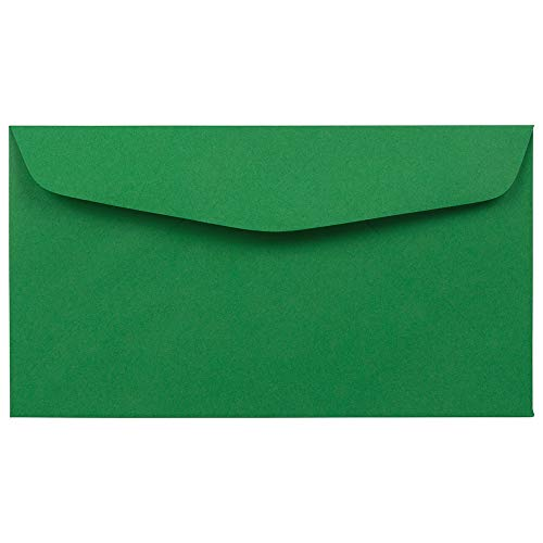 JAM PAPER #6 3/4 Business Premium Envelopes - 3 5/8 x 6 1/2 - Green Recycled - 100/Pack