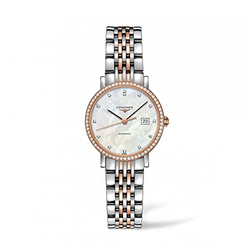 Longines Elegant Collection - L4.310.5.88.7 - MOP Diamond Dial Diamond Bezel Automatic Women's