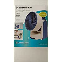 Comfort Zone 4 Inch Personal Fan - Blue