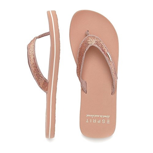 Thongs Womens Rosé Glitter ESPRIT Sandals aBHFBq