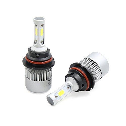 X AUTOHAUX COB 9004 High Low LED Headlight Bulb Conversion Kit 72W 8000LM 2 pcs by X AUTOHAUX