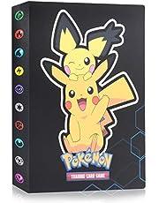 Funmo Trading Card Albums, 30 pagina's 120 kaarten capaciteit, Pokemon Kaartenhouder Album, Pokemon Cards Album, Pokemon Cards Holder(Donkere Pikachu)