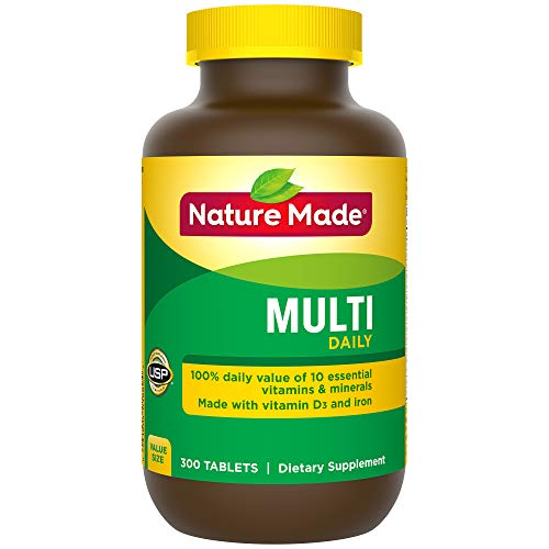 Multi Iron - Nature Made Multi Daily Vitamin With Iron and Calcium, Value Size, 300 Tablets