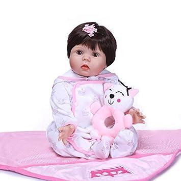 Amazon.com: Muñeca de 21.7 in reborn bebé ojos puede Blink ...