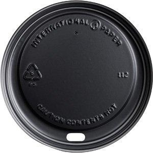 - International Paper LHRDSB16 Soho Black 10-20 oz Hot Cup Lid , 600 ct