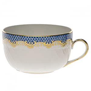 Herend Fish Scale Blue Canton Cup