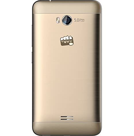 Micromax Q336 Android Mobile Phone with 4 5 inch Screen (Champagne)
