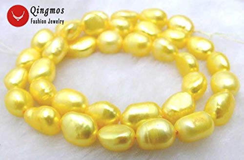 - Natural White Baroque Pearl Beads | for Jewelry Making | Necklaces, Bracelets | with 7-9mm Freshwater Pearl Loose Strand