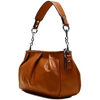 875336524a48 Floto Firenze Hobo Shoulder Handbag in Soft Brown Calfskin Leather