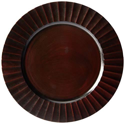 Mimo Style, SP13733, Sousplat Dunas Dark Wood, Marrom/Amadeirado
