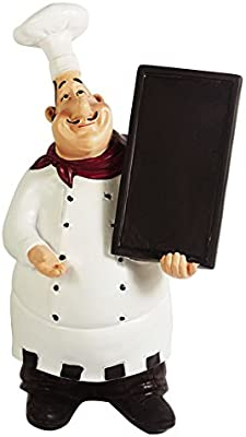 KiaoTime 5HB Italian Chef Figurines Kitchen Decor with Chef