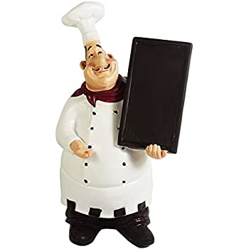 Merveilleux KiaoTime 98915HB Italian Chef Figurines Kitchen Decor With Chef Chalkboard  Counter Top Chef Figurine Collectible Kitchen