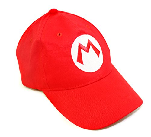 Super Mario Bros Hat - Red Baseball Cap - One Size Unisex Cosplay (Where Is Mario)