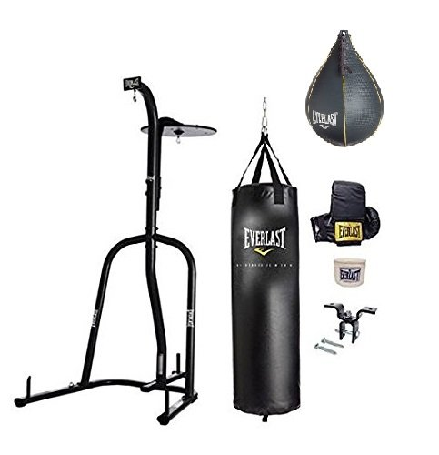 Everlast Dual Station Heavy Bag Stand, Value Bundle ()