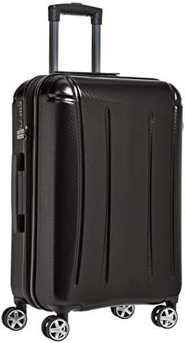 Amazon Basics Oxford Expandable Spinner Luggage Suitcase with TSA Lock - 26.8 Inch, Black