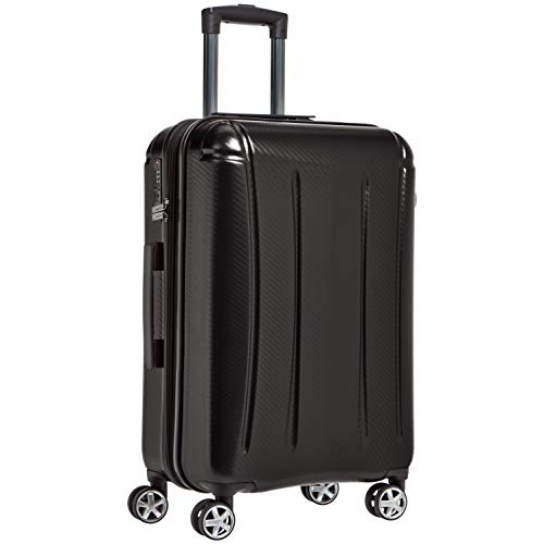 AmazonBasics Oxford Expandable Spinner Luggage Suitcase with TSA Lock - 24 Inch, Black