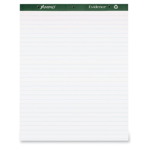 Ampad Flip Chart Pads, 1'' Ruled, 27 x 34, White, Two 50-Sheet Pads by Ampad
