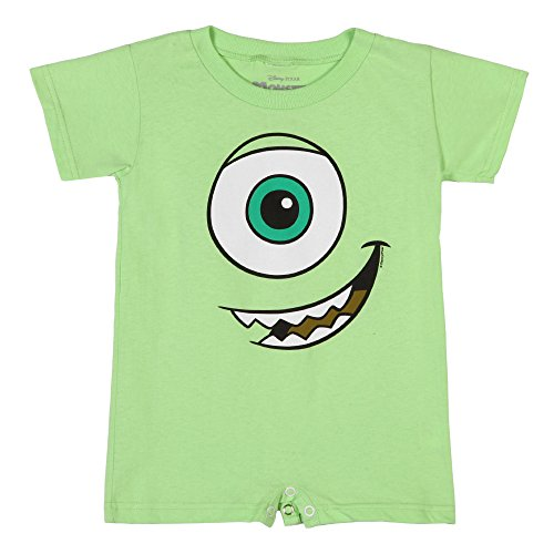 [Monsters Inc I Am Mike Baby Romper - Green (0-6)] (Monsters Inc Onesie)