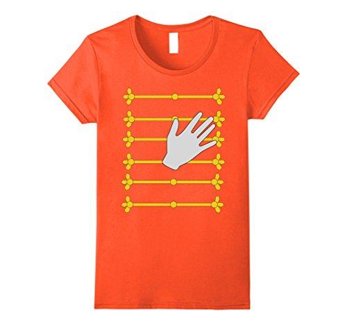 Female Pop Star Costume Ideas (Womens Pop Star Music Singer Halloween Costume T-shirt Small Orange)