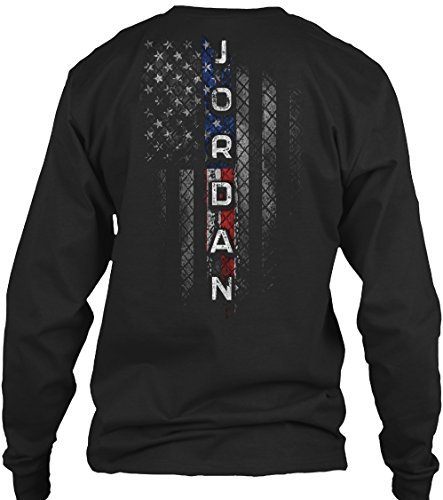 Jordan Family. XL - Black Long Sleeve Tshirt - Gildan 6.1oz Long Sleeve Tee from 1Nation