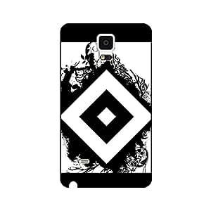 Hamburger Sportverein Team Logo Phone Case,Creative Fashion Bundesliga FC Hamburger Premium Samsung Galaxy Note 4 Phone Case Cover